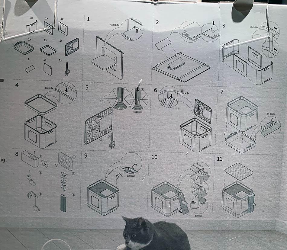 Instrukcja składania kuwety dla kota